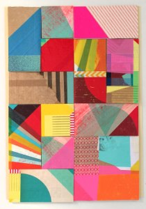 "Anna Taratiel. ""bits and pieces I"" Collages on paper. 30x20cm"