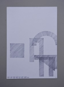 "Eltono ""Hachures Ale?atoires II""pencil on paper. 21 x 29,7cm"