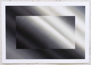 "FelipePantone-""DYNAMICHROME 4""Spray Painting on paper 42x29,7cm"