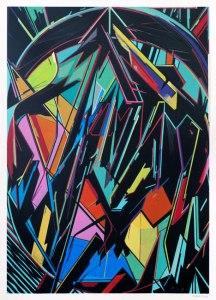 "Fermi?n Moreno Marti?n ""ONEPAPER 01""Oil on paper 42x29,7 cm"