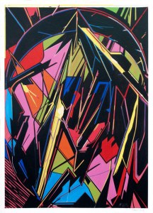 "Fermi?n Moreno Marti?n ""ONEPAPER 02""Oil on paper 42x29,7 cm"